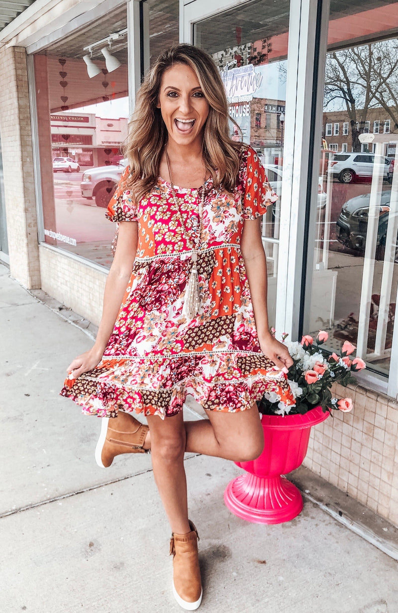 Girl Crush Floral Dress - West Avenue