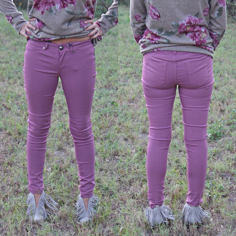 Mauve skinnies - West Avenue