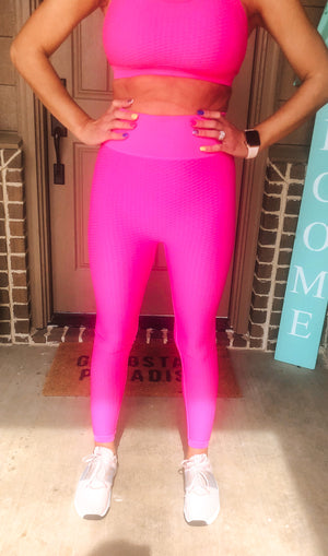 Fuchsia Mono B Leggings - West Avenue