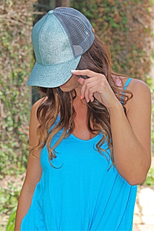 C.C. Ponytail Glitter Cap - West Avenue