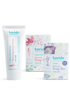 Patchouli & Vanilla and Lavender Cleanse and Hydrate Trio