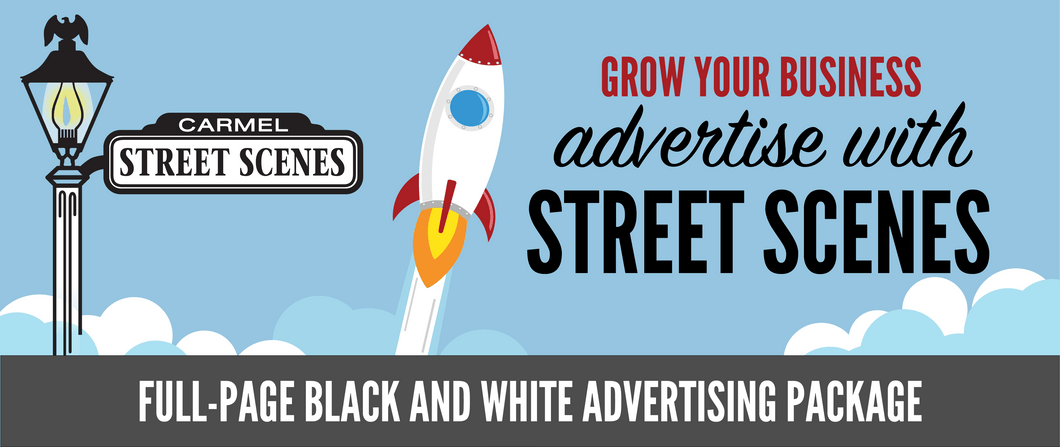 Street Scenes Full Page Black & White Advertising Package