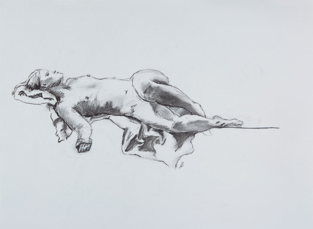Reclining Figure with Arm Extended, 2018 - Print