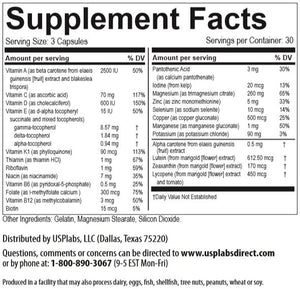 Vitamer PRO Supplement Facts