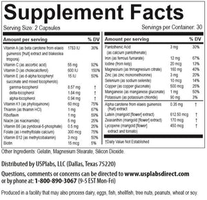 Vitamer PRO for Women Supplement Facts