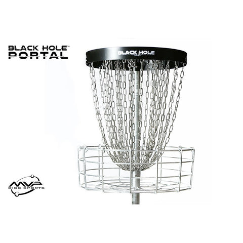MVP Black Hole Portal Portable Disc Golf Basket