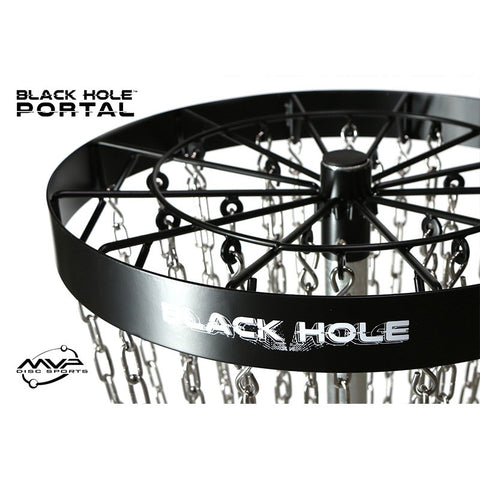 MVP Black Hole Portal Permanent Disc Golf Basket