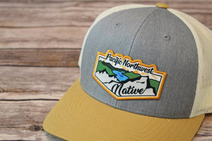 PNW Printed Patch Trucker Snap Back
