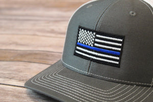 Thin Blue Line Trucker Snap Back