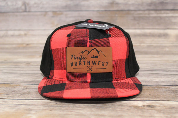 PNW Leather Patch Pro Back Flannel Hat