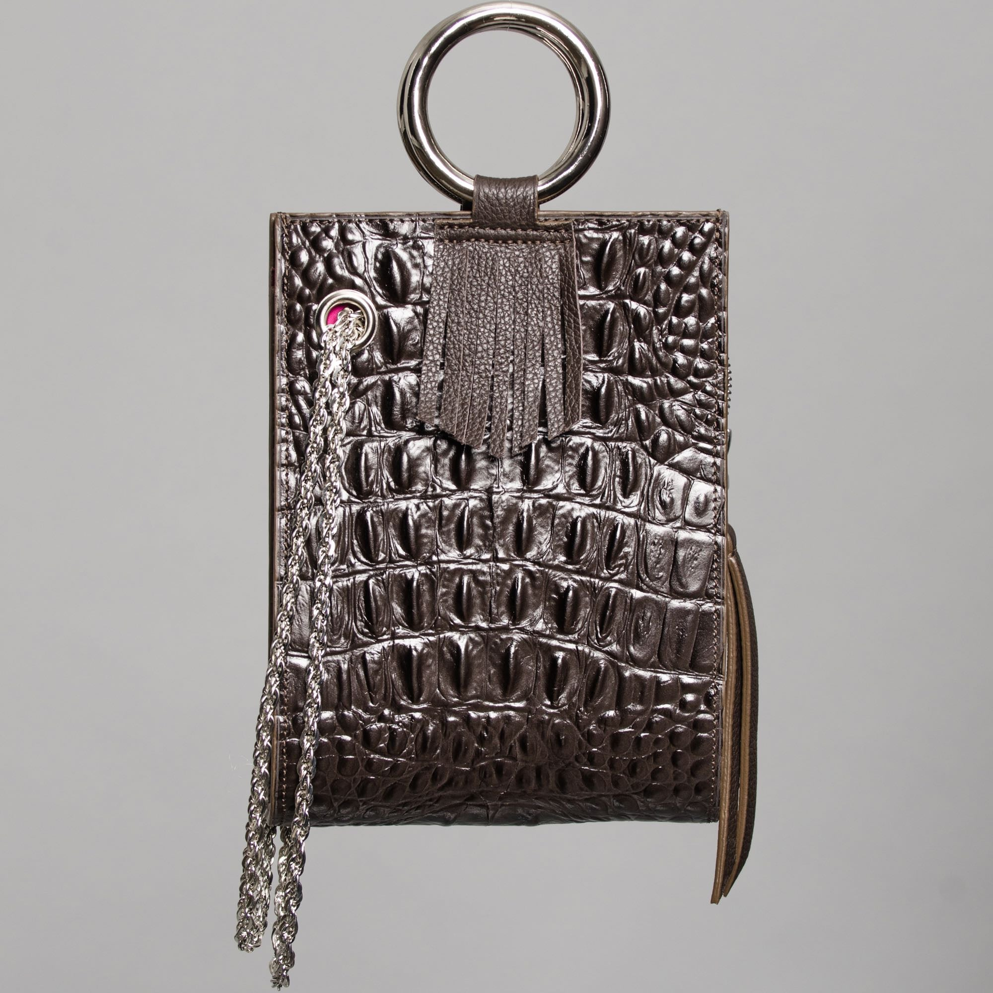 Crocodile Leather Effect mini handbag by Claudette in Montreal