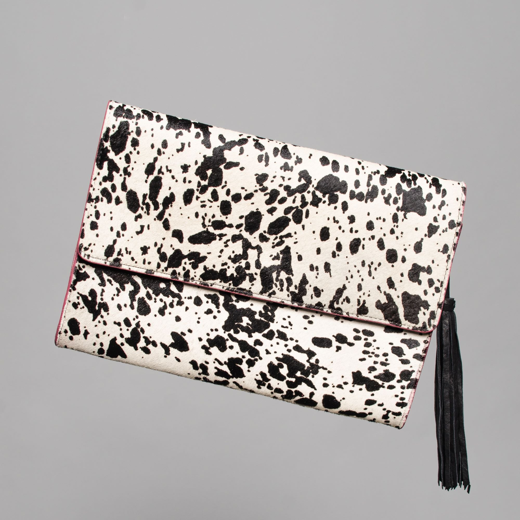 Leather Stencil Clutch Bag by Claudette in Montreal