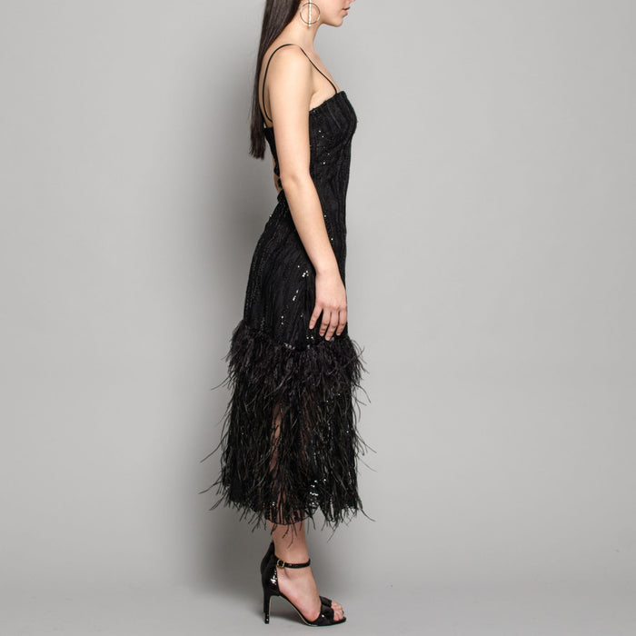 Ostrich Feather Maris dress