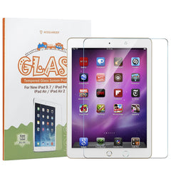 "New iPad 9.7"" (2017) / iPad Pro 9.7 / iPad Air 2 [Tempered Glass] Screen Protector Film, ACEGUARDER High Definition Clear Shield [0.3mm Ultra Thin 9H Hardness] [Easy Installation] [Anti-Bubble]"