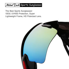 Polarized Sports Sunglasses, MiluoTech Sunglasses for Men Women Cycling Riding Running Baseball