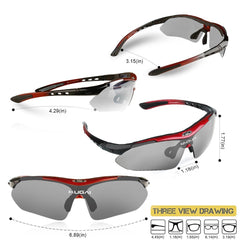 Polarized Cycling Sunglasses Sports Glasses UV Protection For Men Women Baseball Golf