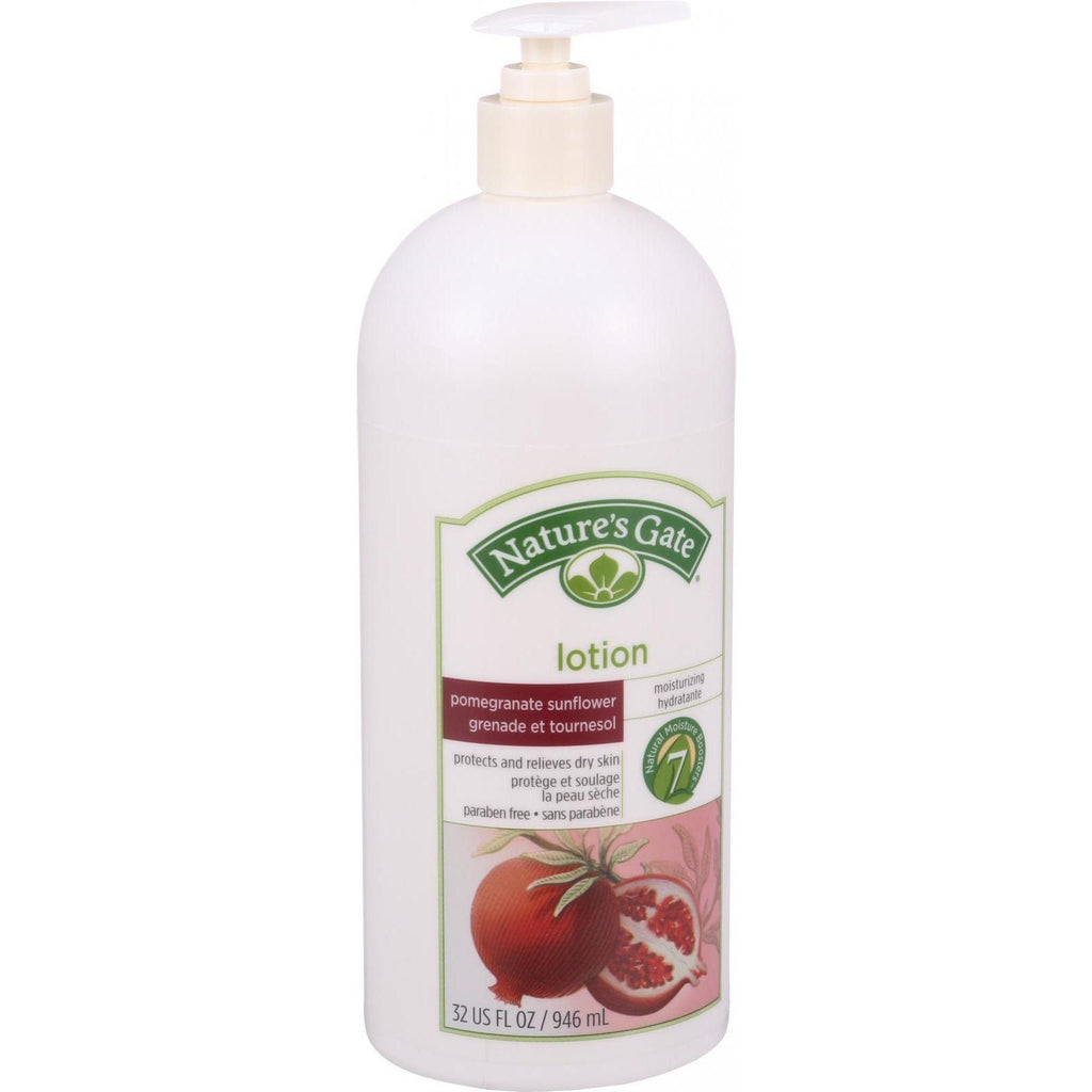 Nature's Gate Moisturizing Lotion - Pomegranate And Sunflower - 32 Oz