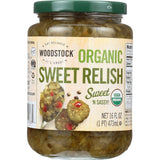 Woodstock Relish - Organic - Sweet - 16 Oz - Case Of 12