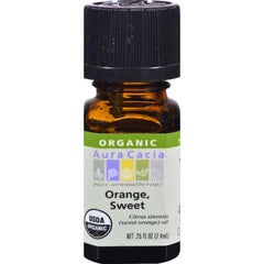 Aura Cacia Organic Orange Sweet - .25 Oz
