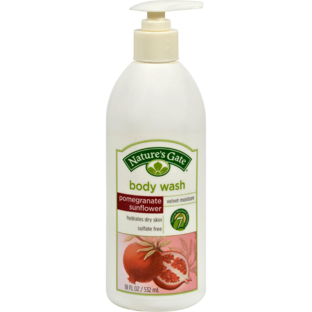 Nature's Gate Body Wash Velvet Moisture Pomegranate Sunflower - 18 Fl Oz