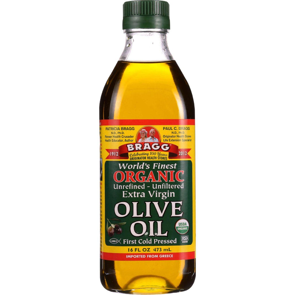Bragg Olive Oil - Organic - Extra Virgin - 16 Oz - Case Of 12