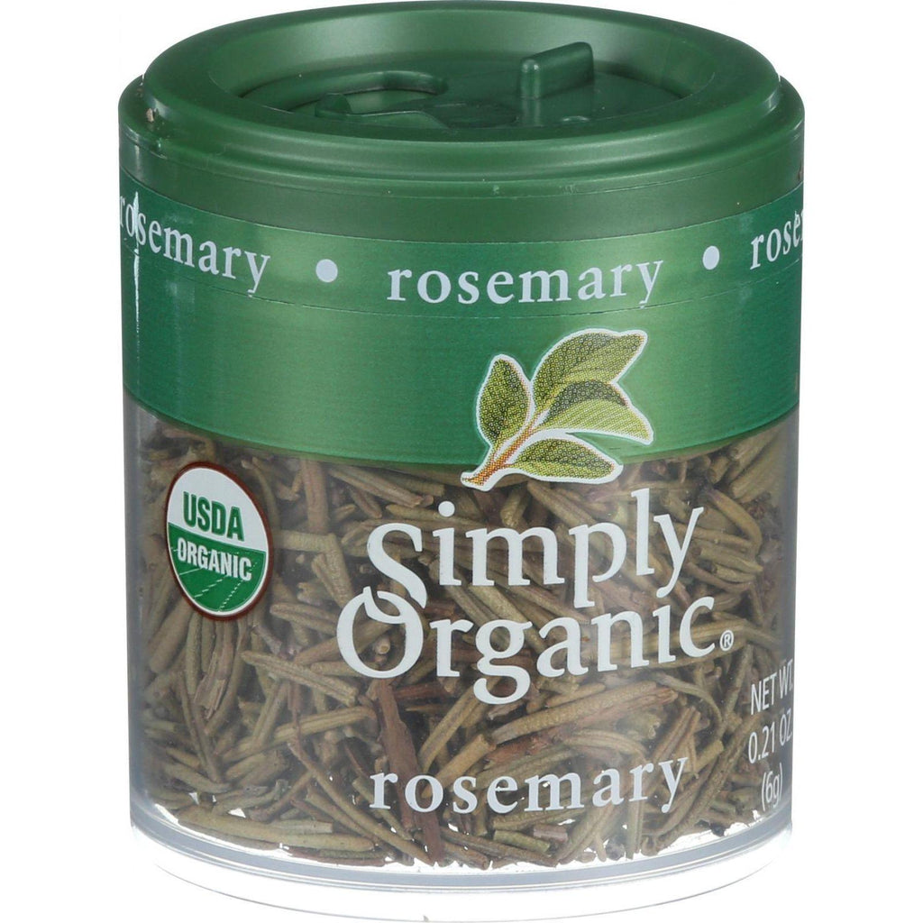 Simply Organic Rosemary Leaf- Organic - Whole - .21 Oz - Case Of 6