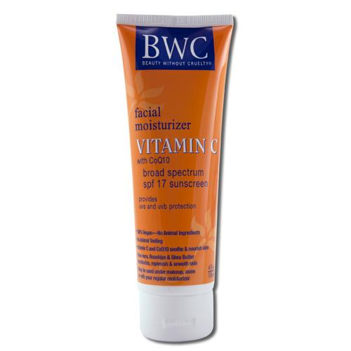Beauty Without Cruelty Facial Moisturizer Spf 12 Sunscreen Vitamin C With Coq10 - 4 Fl Oz