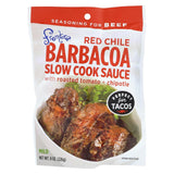 Frontera Foods Red Chile Barbacoa Slow Cook Sauce - Red Chile - Case Of 6 - 8 Oz.
