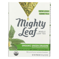 Mighty Leaf Tea Green Tea - Organic Green Dragon - Case Of 6 - 15 Bags