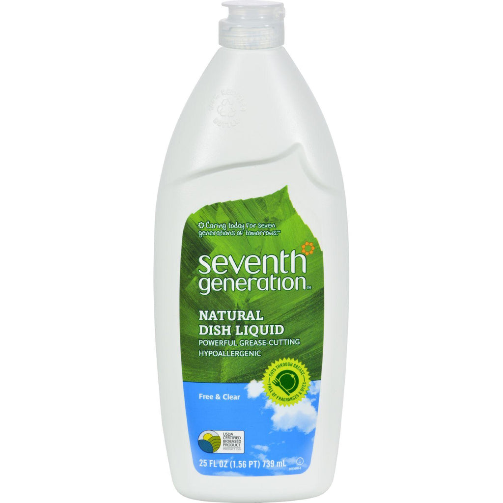 Seventh Generation Dish Liquid - Free And Clear - 25 Fl Oz - 1 Case