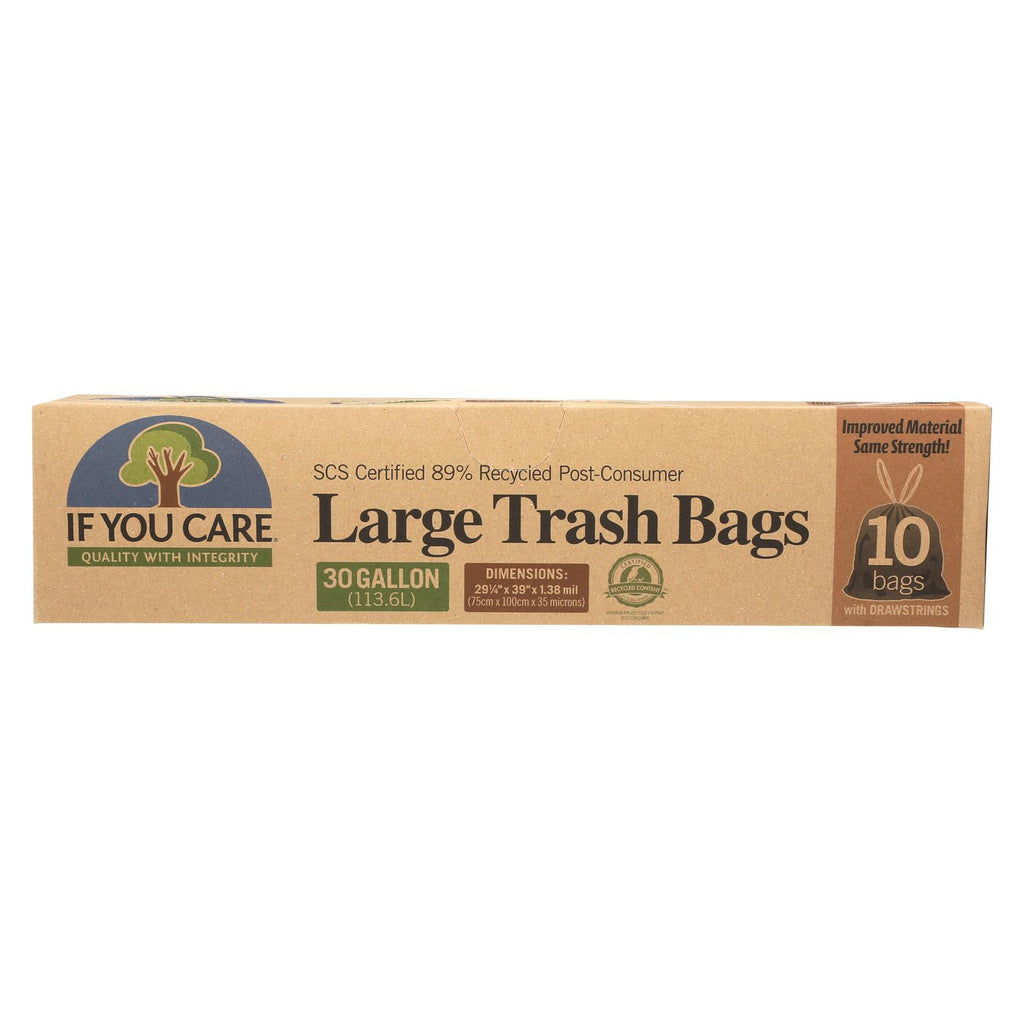 If You Care Trash Bags - Recycled - Case Of 12 - 10 Count