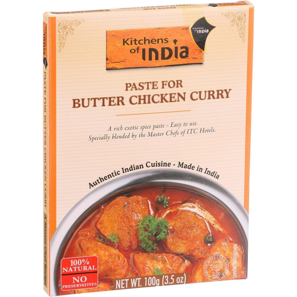 Kitchen Of India Paste - Butter Chicken Curry - 3.5 Oz - Case Of 6