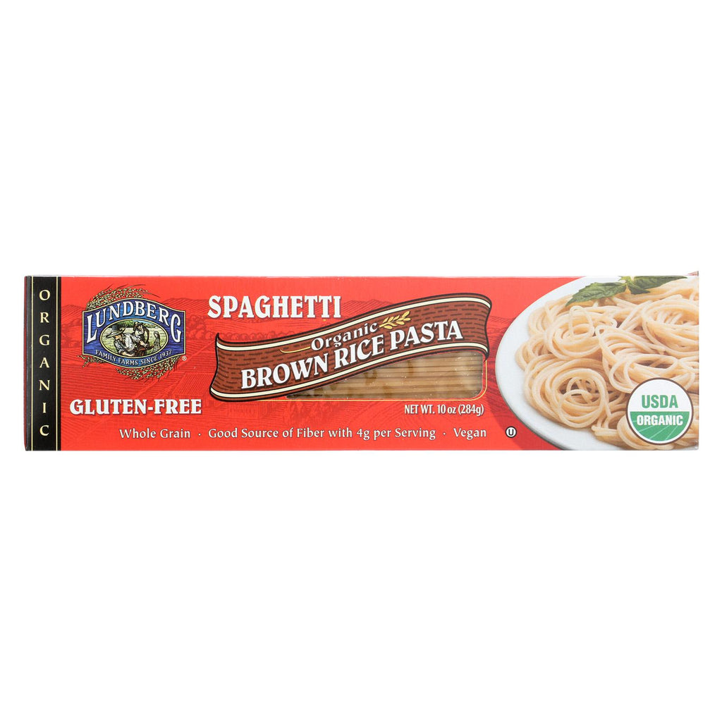 Lundberg Family Farms Organic Spaghetti Brown Rice Pasta - Case Of 12 - 10 Oz.