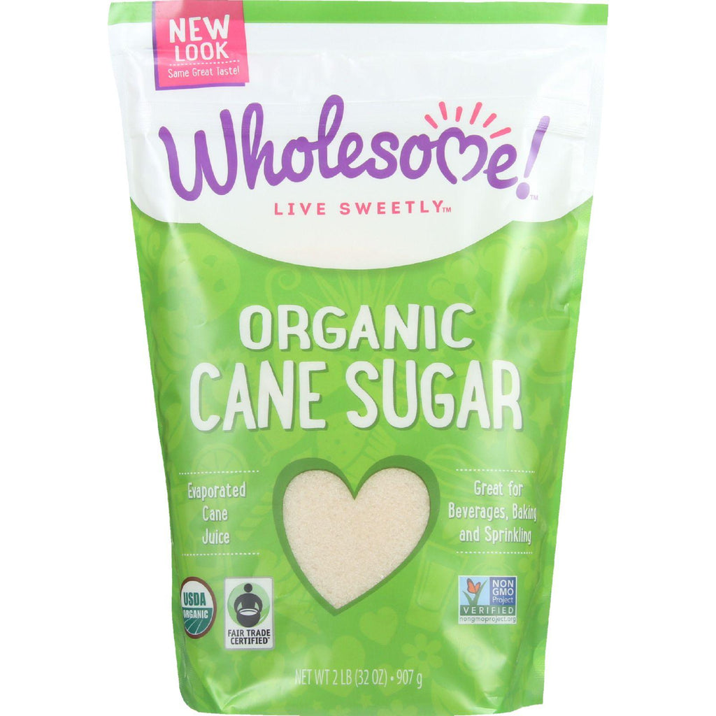 Wholesome Sweeteners Sugar - Organic - Cane - Fair Trade - 2 Lb - Case Of 12