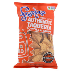 Frontera Foods Thick & Crunchy Tortilla Chip - Case Of 12 - 12 Oz