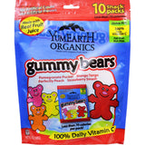 Yummy Earth Organics Gummy Bears - Organic - Snack Pack - .7 Oz - 10 Count - Case Of 12