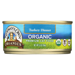 Newman's Own Organics Turkey Grain Free Dinner - Organic - Case Of 24 - 5.5 Oz.