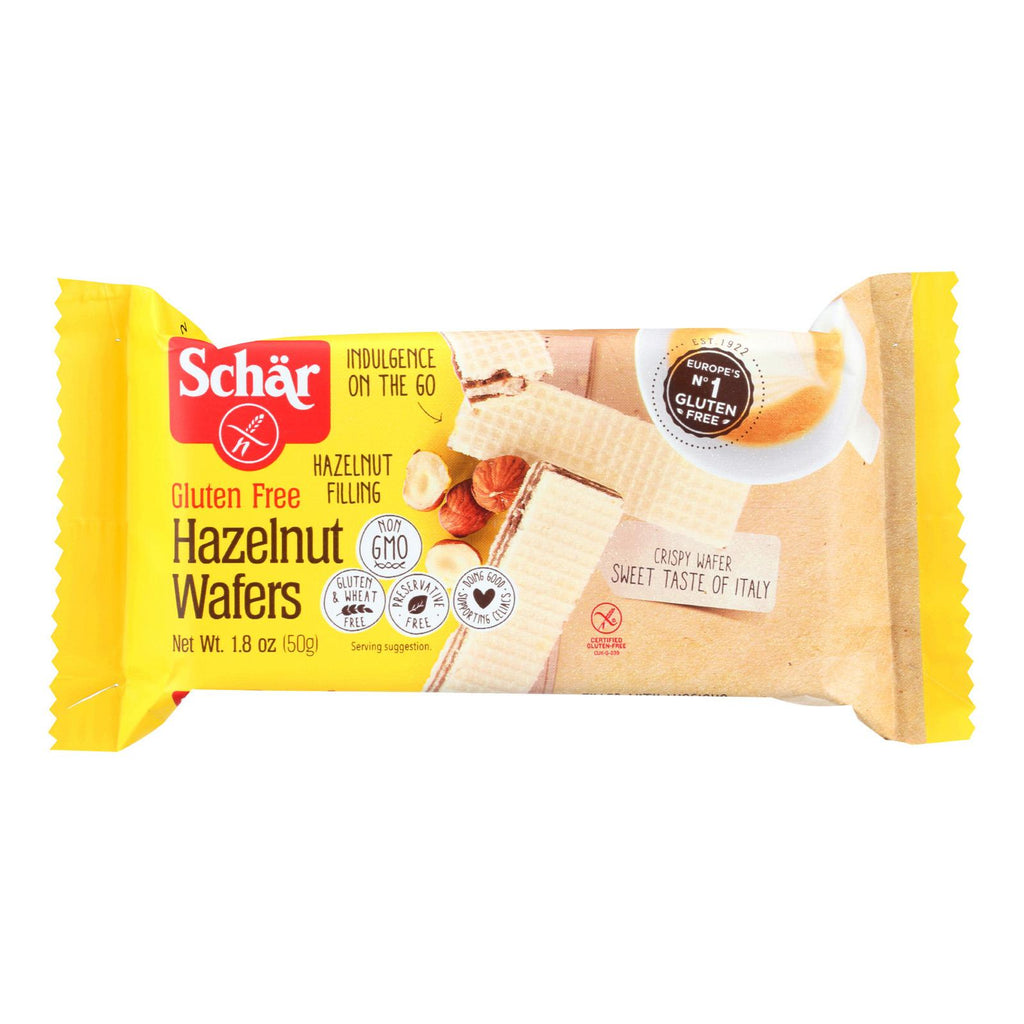 Schar Wafers - Hazelnut - Gluten Free - 1.8 Oz - Case Of 20
