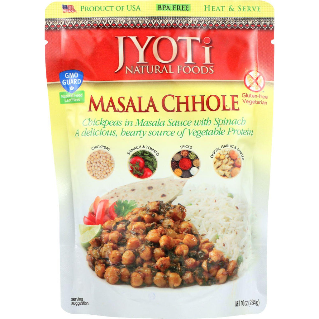 Jyoti Cuisine India Heat And Serve - Masala Chhole - 10 Oz - Case Of 6
