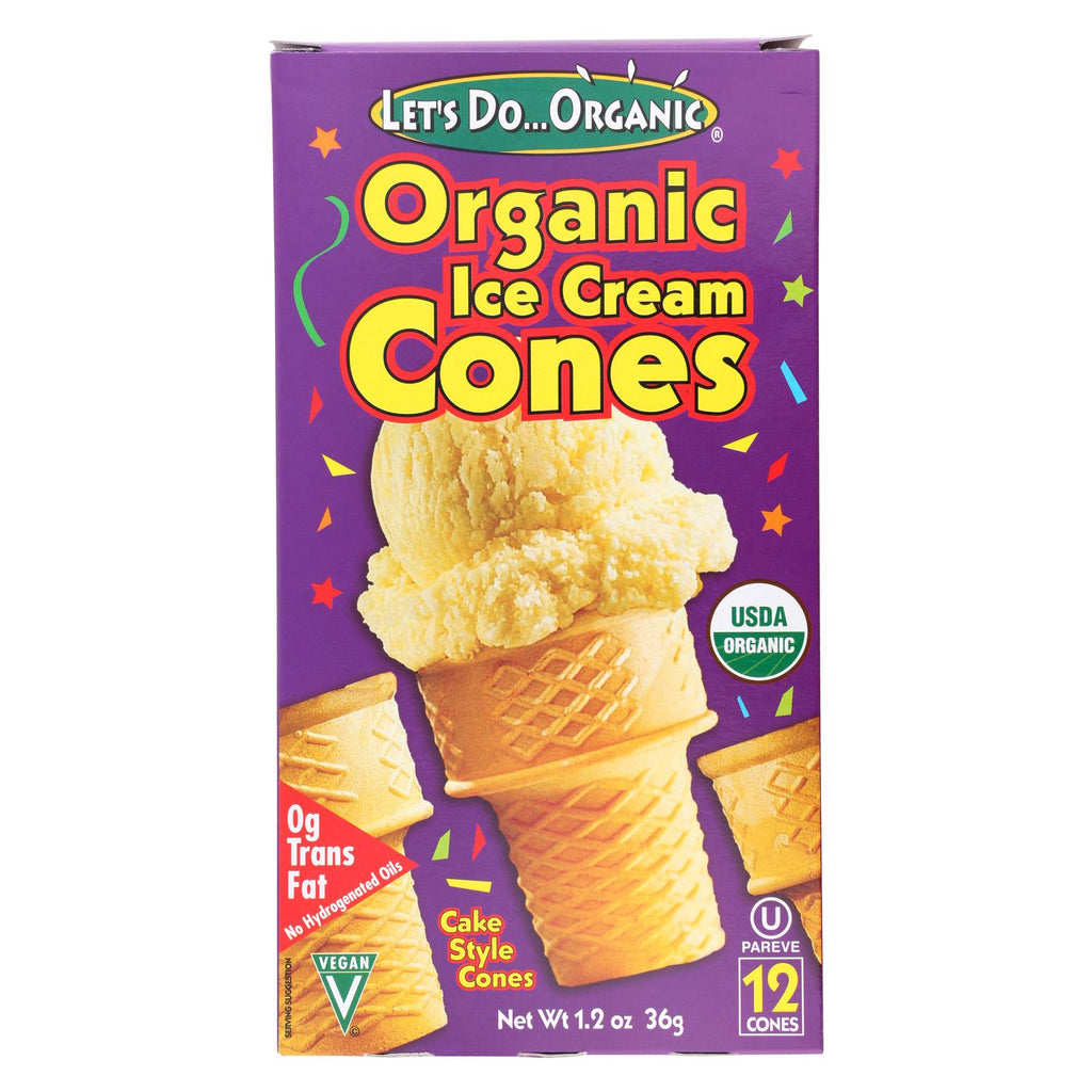 Let's Do Organics Ice Cream Cones - Organic - Case Of 12 - 1.2 Oz.