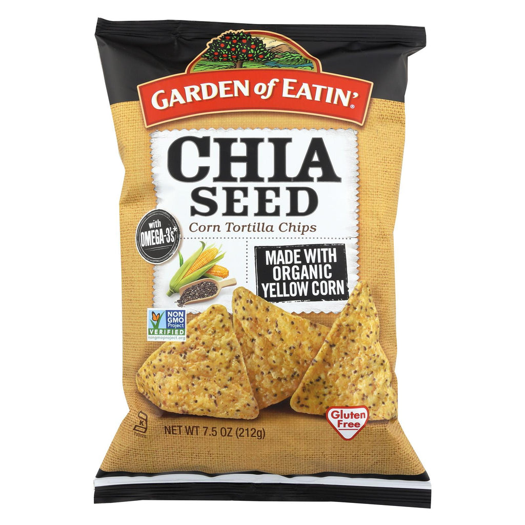Garden Of Eatin' Corn Tortilla Chips - Chia Seed - Case Of 12 - 7.5 Oz.