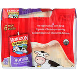 Horizon Organic Dairy Milk - Organic - 1 Percent - Lowfat - Box - Vanilla - 6-8 Oz - Case Of 3