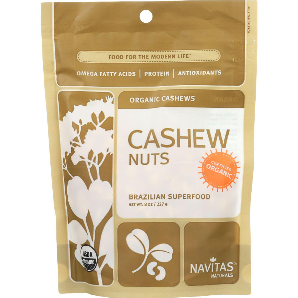 Navitas Naturals Cashew Nuts - Organic - Whole - 8 Oz - Case Of 12