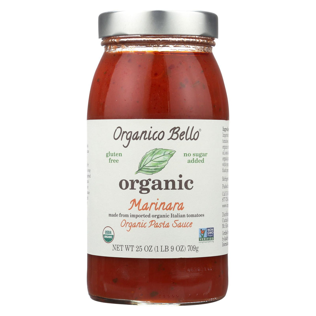 Organico Bello Pasta Sauce - Marinara - Case Of 6 - 25 Oz.