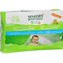 Seventh Generation Baby Wipes - Free And Clear - Refll - 128 Count