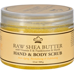 Nubian Heritage Hand And Body Scrub - Vitamin E&frnk - 12 Oz