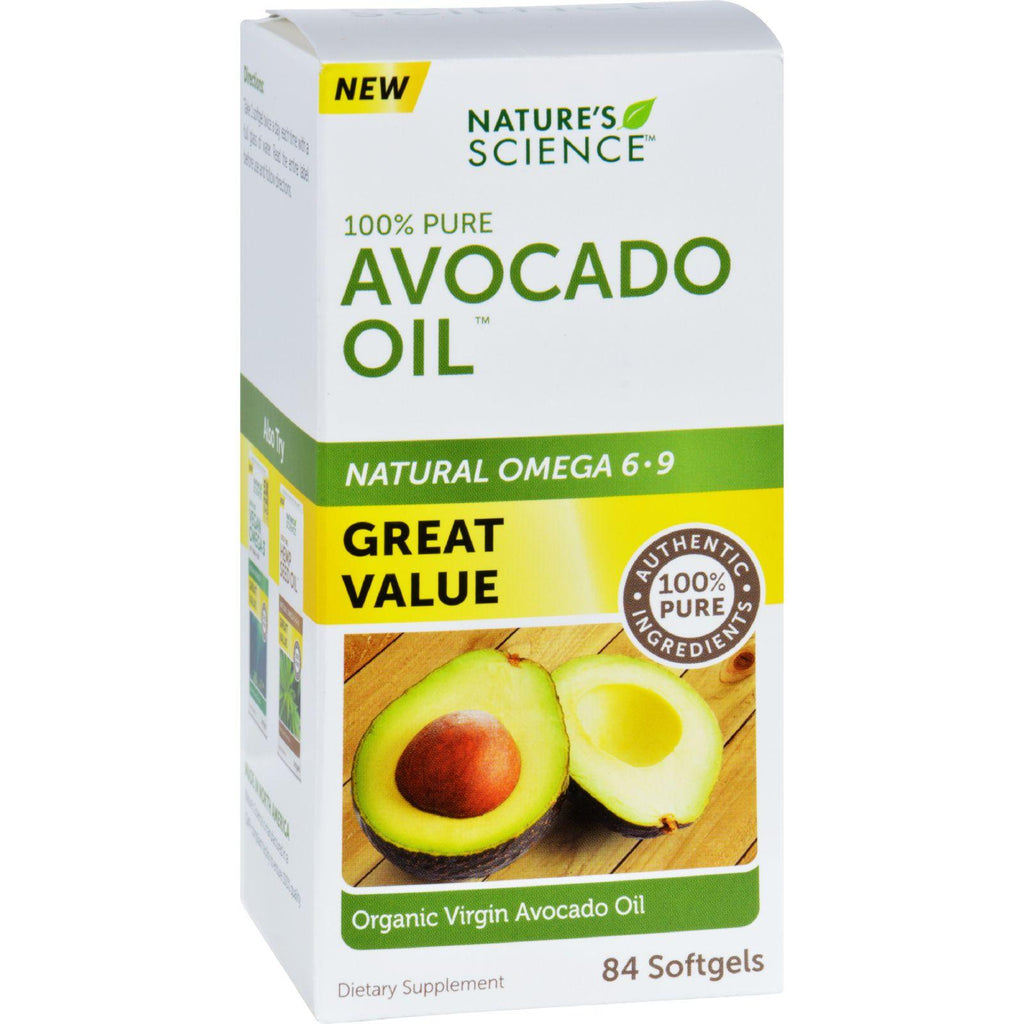 Natures Science Avocado Oil - 100 Percent Pure - 84 Softgels