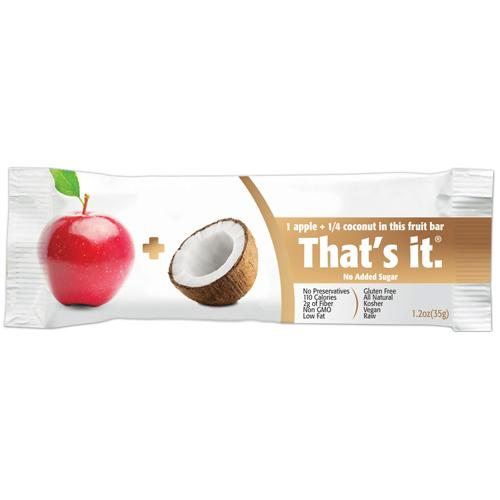 That's It Fruit Bar - Apple And Coconut - Case Of 12 - 1.2 Oz