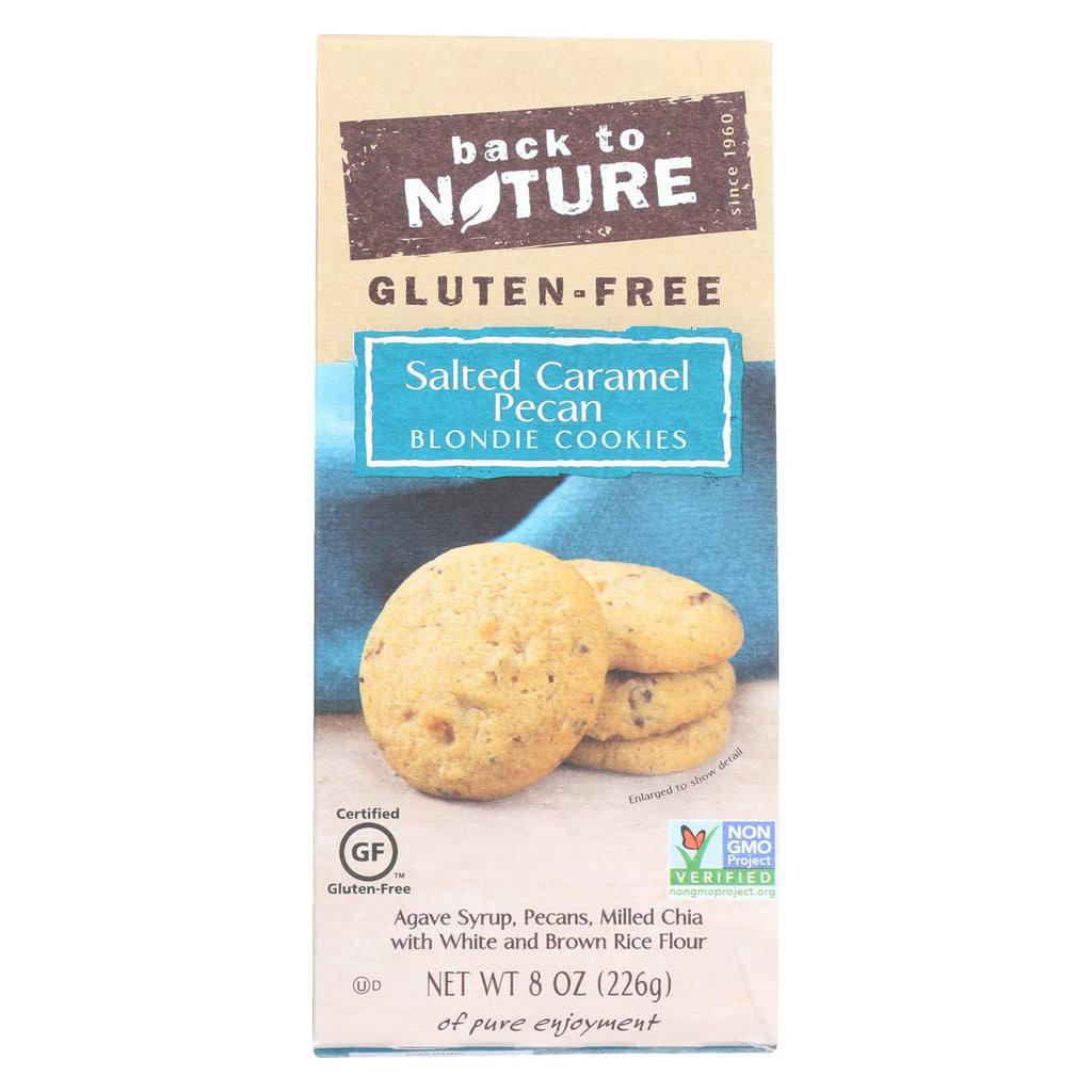 Back To Nature Pecan Blondie Cookies - Salted Caramel - Case Of 6 - 8 Oz.