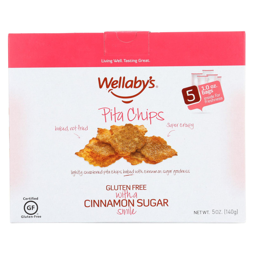Wellaby's Pita Chips - Cinnamon And Brown Sugar - Case Of 6 - 5 Oz.